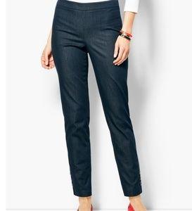 Talbots Polished Denim Chatham ankle pants